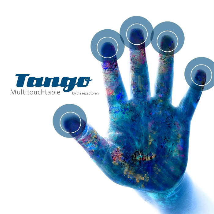 Tango Multitouch Hand, bewegte Bilder, Referenzen, Multitouchable Screen