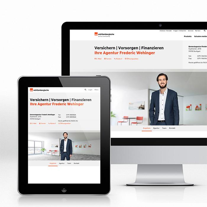 Werbung, Wüerttembergische, digital, 3D Hintergrundbild, 3D Animationen, Werbung