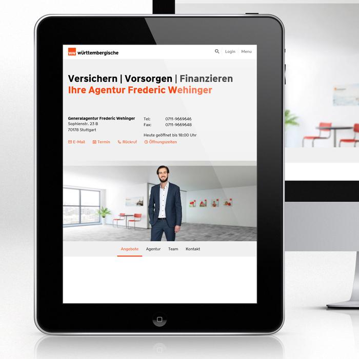 Wüerttembergische, digital, 3D Hintergrundbild, 3D Animationen, Werbung