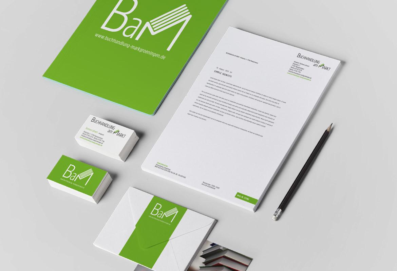 Corporate Design Briefpapier Visitenkarten, Fassadenbeschriftung