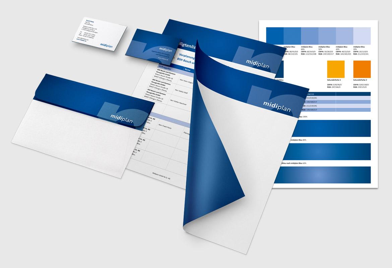 Corporate Design Visitenkarte Geschäftsausstattung