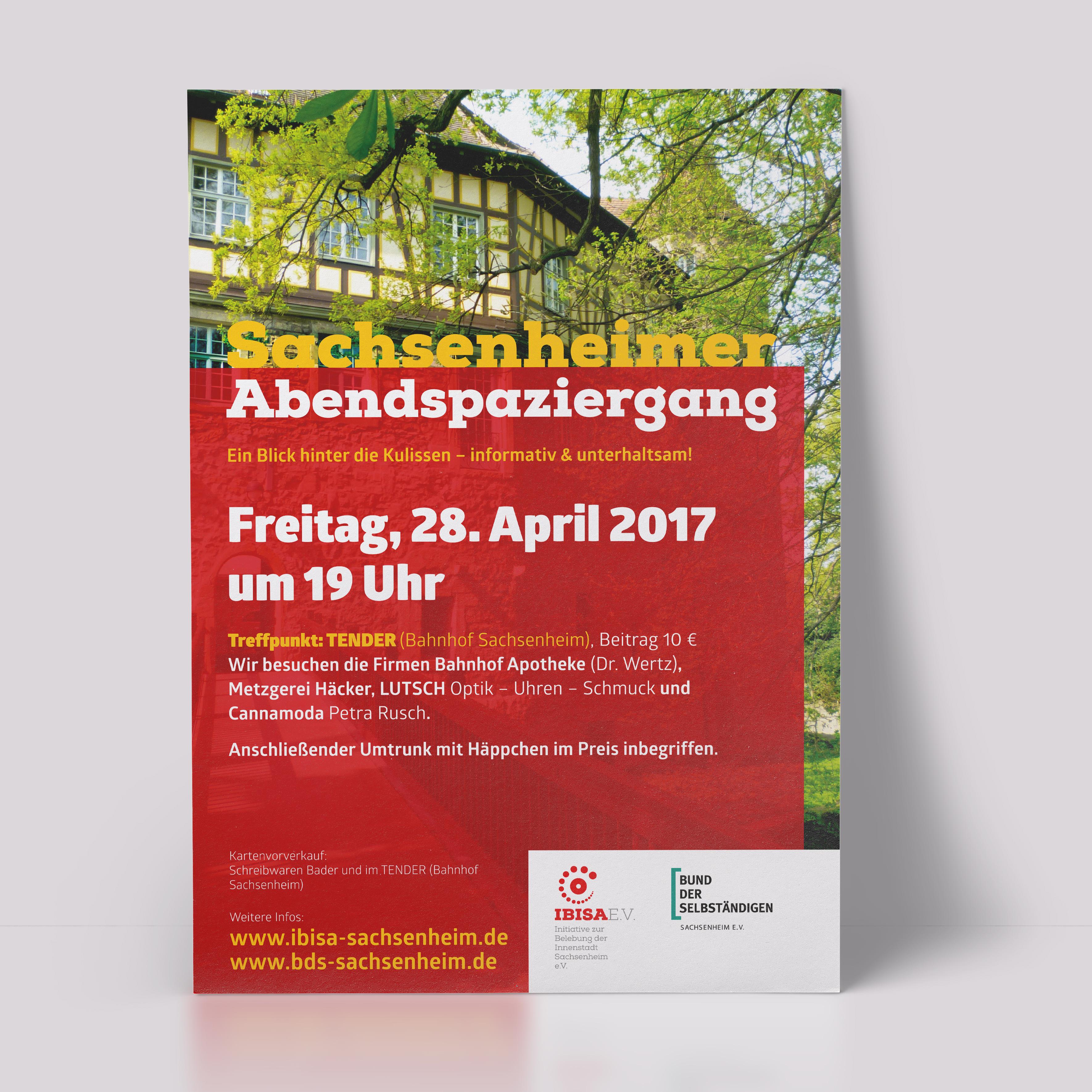 Print, Abendspaziergang, IBISA, Plakat