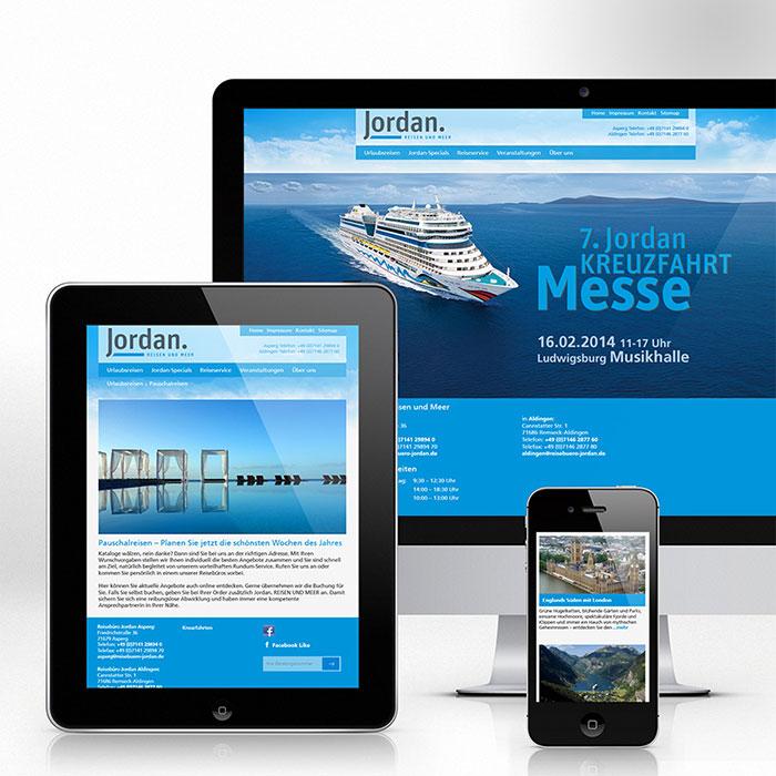 Web, Reisebüro Jordan, Internet, digital