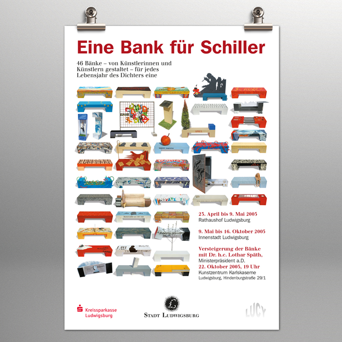 Bänke, Plakate, Broschüren, Foto, Print