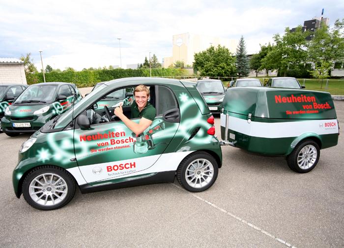 Smarte Tage, Bosch, Autobeschriftung, Print