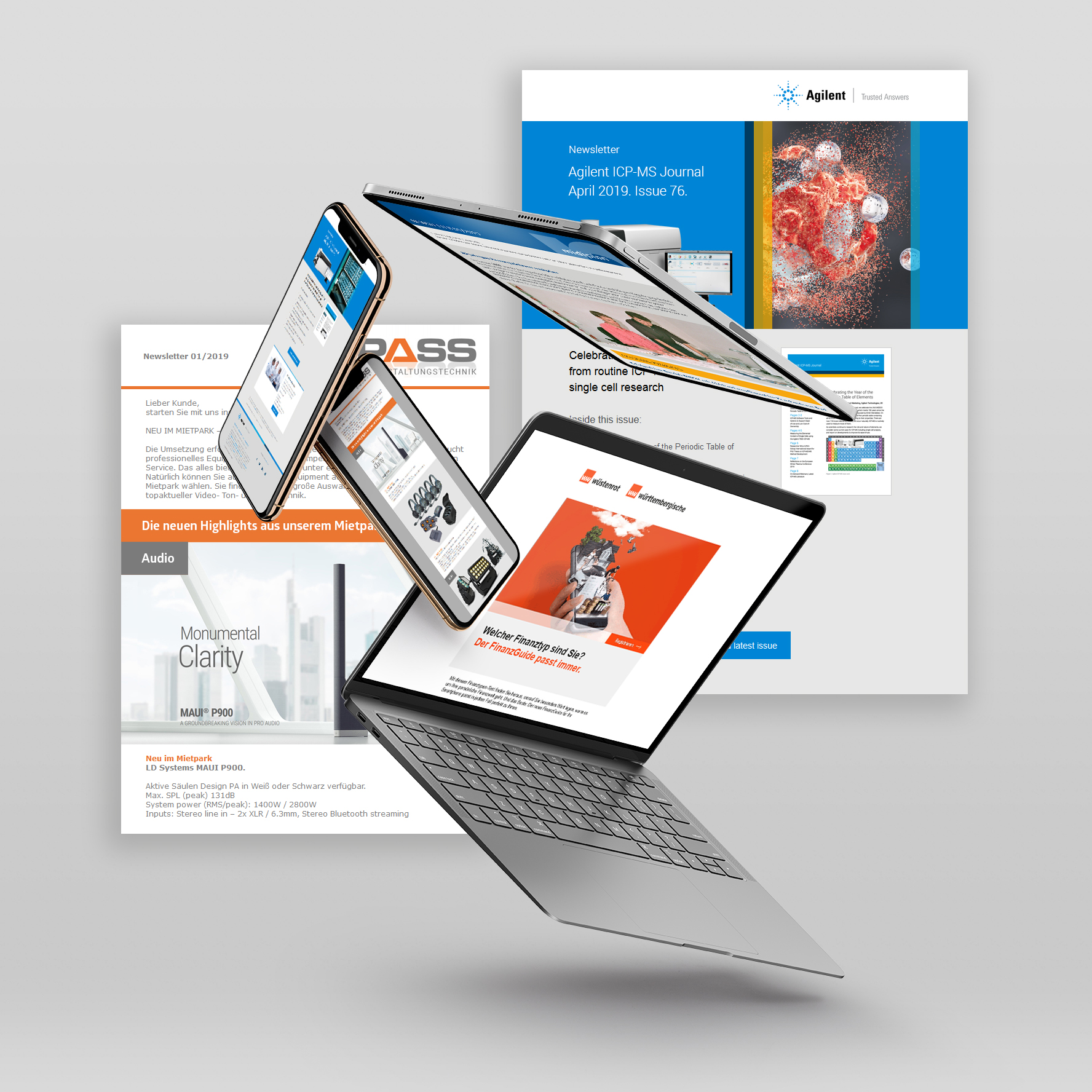 Online Marketing, Tablet, Smartphone